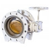 Type 2010 double eccentric butterfly valve operated with handwheel