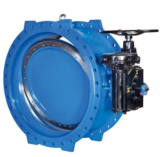 Double eccentric butterfly valve, type 2010