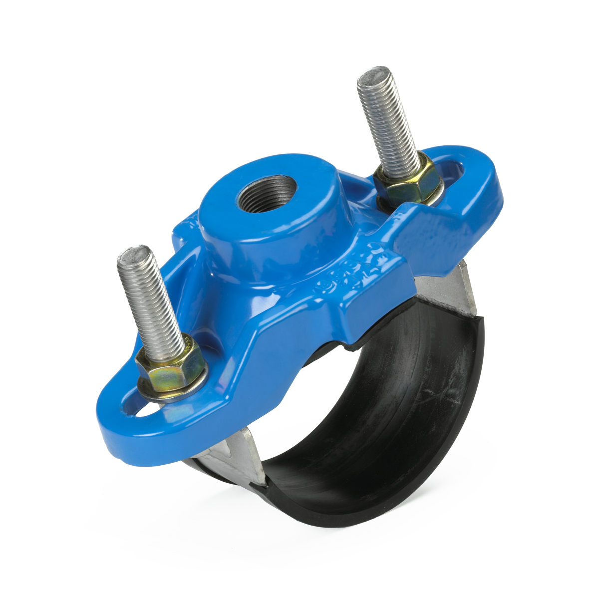 Ductile iron tapping saddle