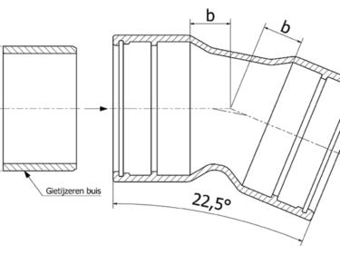 Tyton bend 22½º, MMK-22 piece