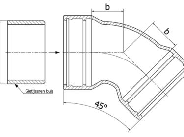 Tyton bend 45º, MMK-45 piece