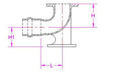PVC/PE duckfoot bend