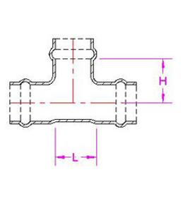 PVC/PE T piece all socket, MMB KS