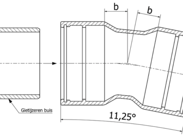 Tyton bend 11¼º, MMK-11 piece