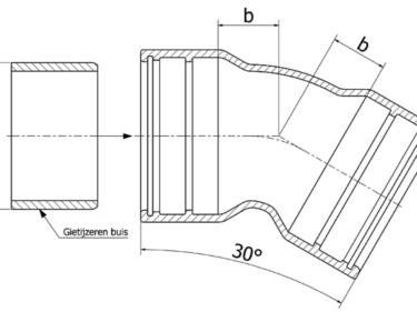 Tyton bend 30º, MMK-30 piece